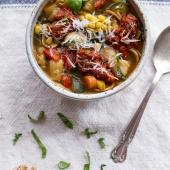 Tuscan Summer Minestrone with Sun-Dried Tomato Pesto-1