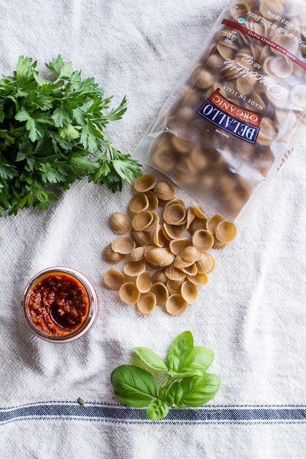 Tuscan Summer Minestrone with Sun-Dried Tomato Pesto | halfbakedharvest.com