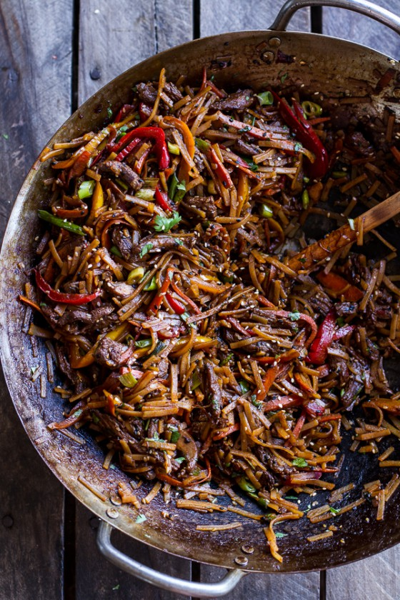 30-Minute Stir Fried Korean Beef and Toasted Sesame Noodles.-1