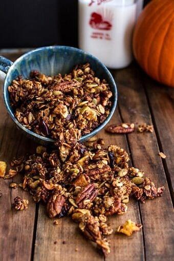 Brown Butter Pecan + Maple Quinoa Autumn Harvest Granola Cinnamon Brioche Chocolate Chip French Toast Muffins | halfbakedharvest.com @hbharvest