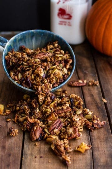 Brown Butter Pecan + Maple Quinoa Autumn Harvest Granola.