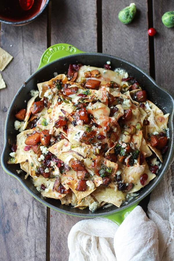 Cranberry-Butternut-and-Brussels-Sprout-Brie-Skillet-Nachos-1