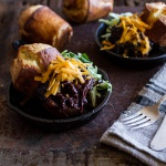 Crockpot BBQ Beer Pulled Chicken with Cheddar Corn Popovers.-1