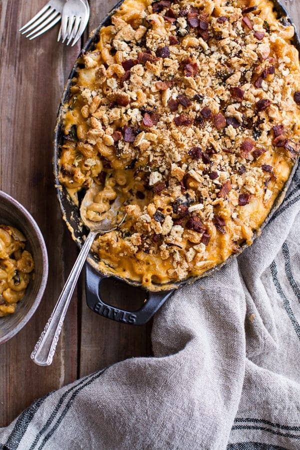 Butternut Squash + Brussels Sprouts in Mac n' Cheese with Buttery Bacon Ritz Crackers | halfbakedharvest.com @hbharvest