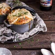 Butternut Squash and Beefy Mushroom Pot Pies w/Flakey Taleggio Crust.