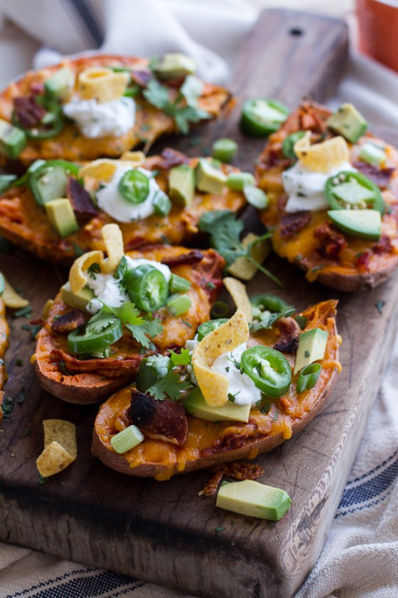 Chicken Chili Con Carne Stuffed Sweet Potato Skins-1