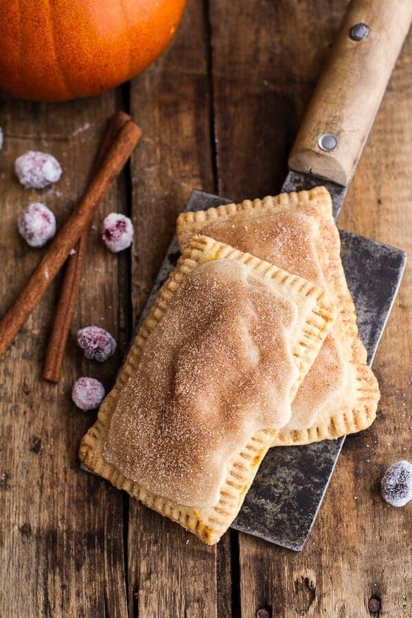 Cinnamon Sugar Nutella Swirled Pumpkin Pie Pop-Tarts | halfbakedharvest.com @hbharvest