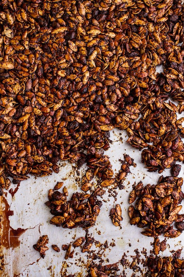 Coffee Roasted Pumpkin Seed Snack Clusters...Dipped in Chocolate | halfbakedharvest.com @hbharvest