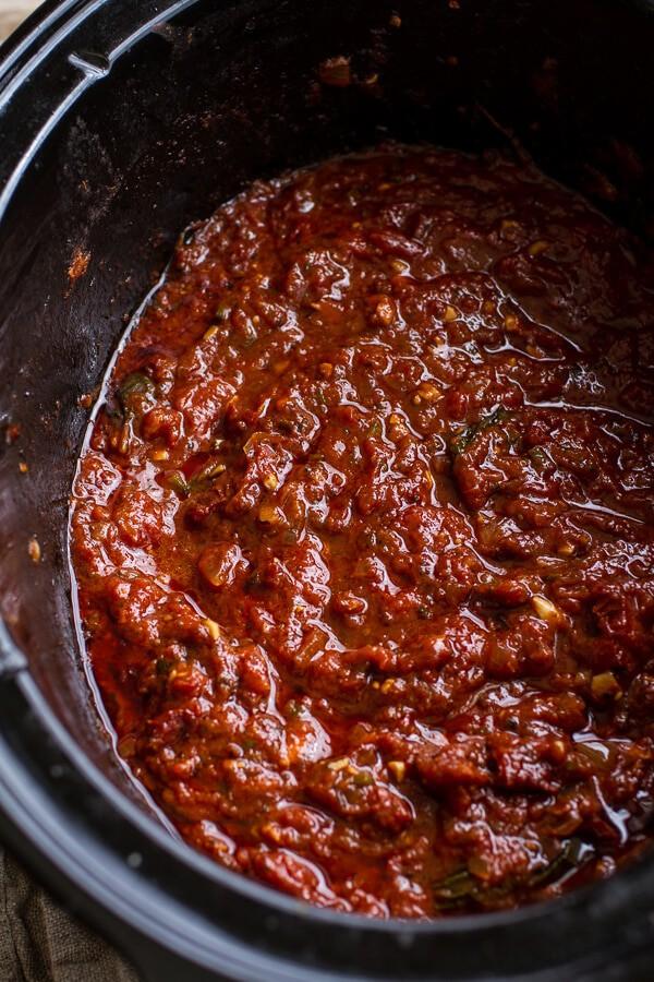 Crockpot Sunday Sauce | halfbakedharvest.com @hbharvest