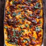 Italian Quinoa Risotto Lasagna w/Truffle Oil.