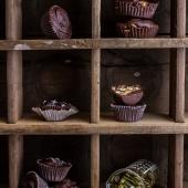 Mini Chocolate Pumpkin Seed Candy Peanut Butter Cups. -12