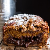 Molten Chocolate Pumpkin Streusel Bread...heavy on the Chocolate + Streusel-9