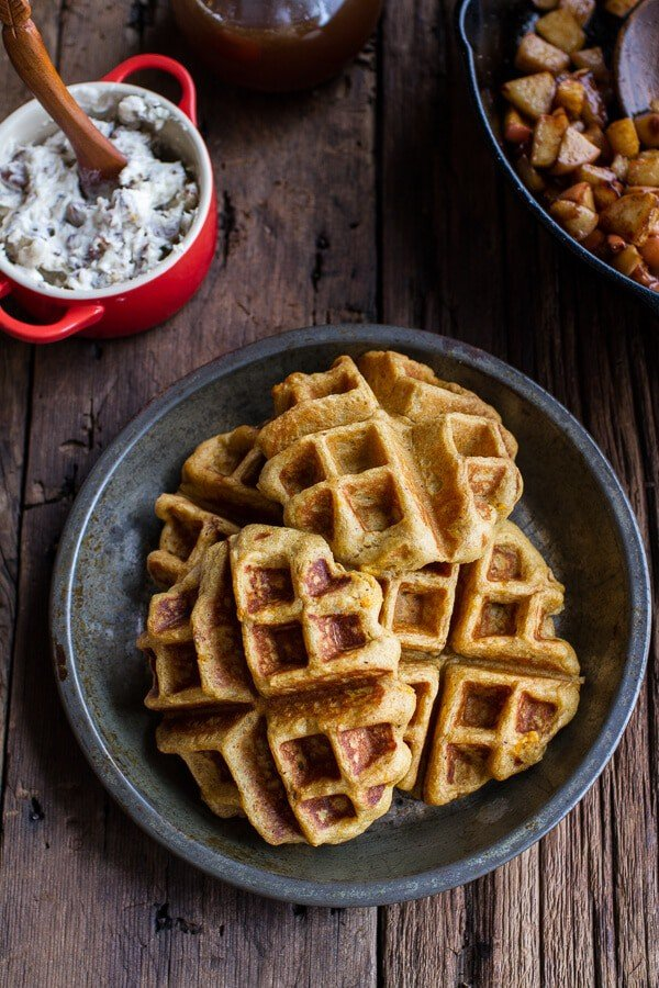 ... Cider-Pumpkin-Waffles-w-Toasted-Pecan-Butter-Cider-Syrup-Spiced-Apples