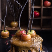 Salted Caramel Apple Snickers Cake.-1