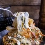 Spanakopita Stuffed Spaghetti Squash Bowls.