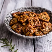 Sweet and Spicy Rosemary Cheddar + Gorgonzola Pumpkin Crackers-1