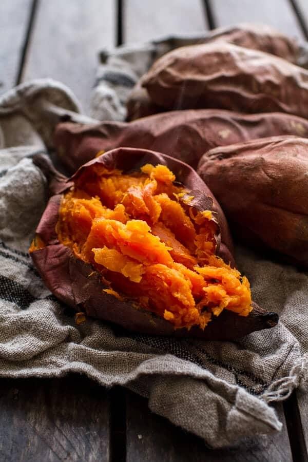 Bourbon Sweet Potato Casserole with Sweet 'n' Savory Bacon Pecans   halfbakedharvest.com @hbharvest