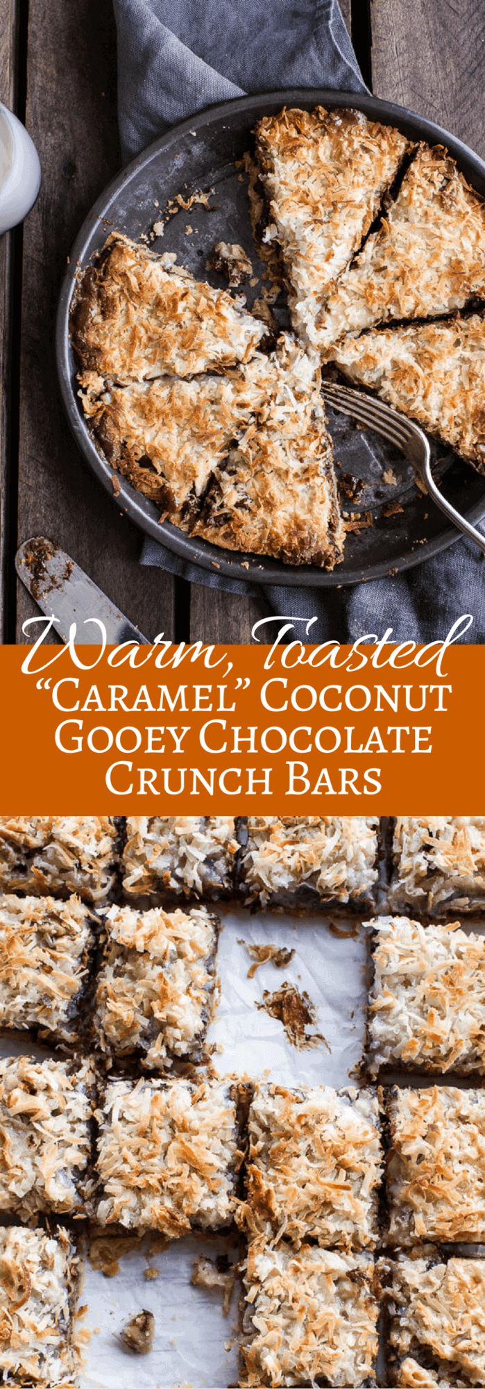 Warm, Toasted Caramel Coconut Gooey Chocolate Crunch Bars | halfbakedharvest.com @hbharvest