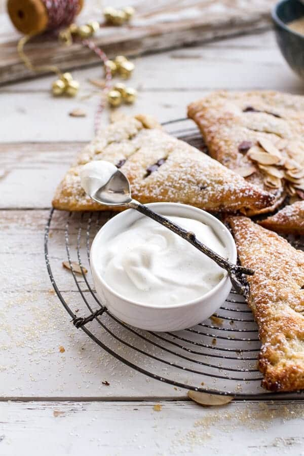 Loaded Chocolate Hazelnut Liquor Turnovers with Salted Vanilla Bean Whipped Cream | halfbakedharvest.com @hbharvest