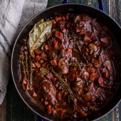 One-Pot 45 Minute Coq au Vin with Brown Butter Sage Mashed Potatoes-2