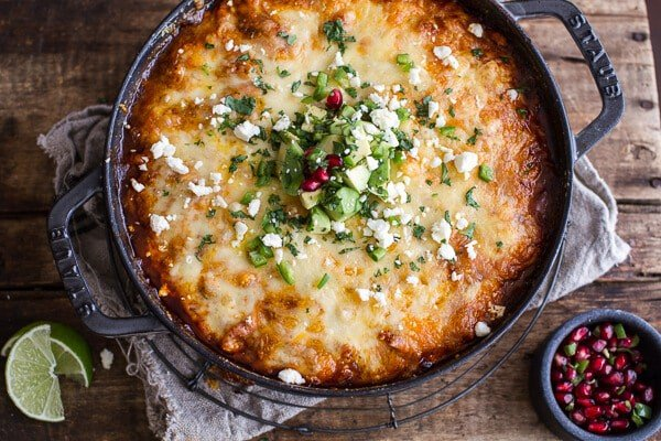 One-Pot Cheesy Turkey Tamale Pie | halfbakedharvest.com @hbharvest