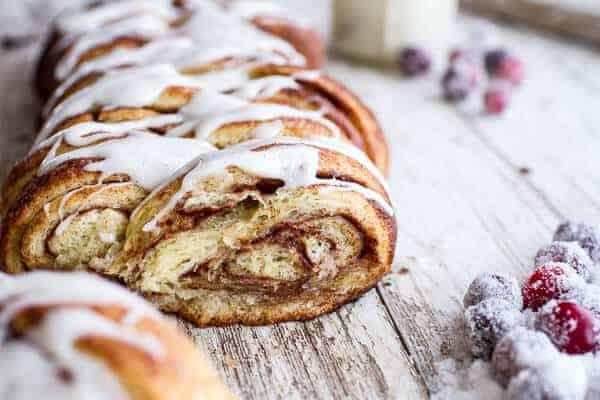Overnight Pull-Apart Brioche Cinnamon Roll Bread | halfbakedharvest.com @hbharvest