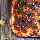 Simple Caramelized Butternut Squash and Kale Florentine Lasagna-1