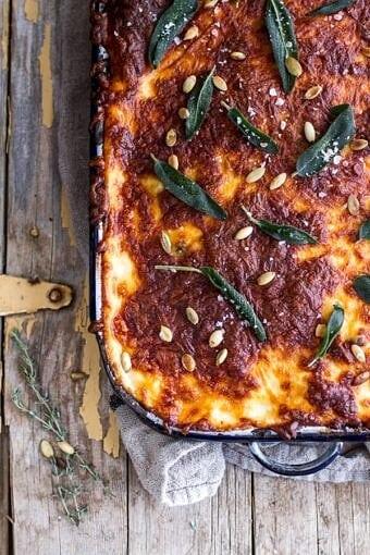 Simple Caramelized Butternut Squash and Kale Florentine Lasagna | halfbakedharvest.com @hbharvest