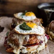 The Thanksgiving Leftovers Croque Madame.