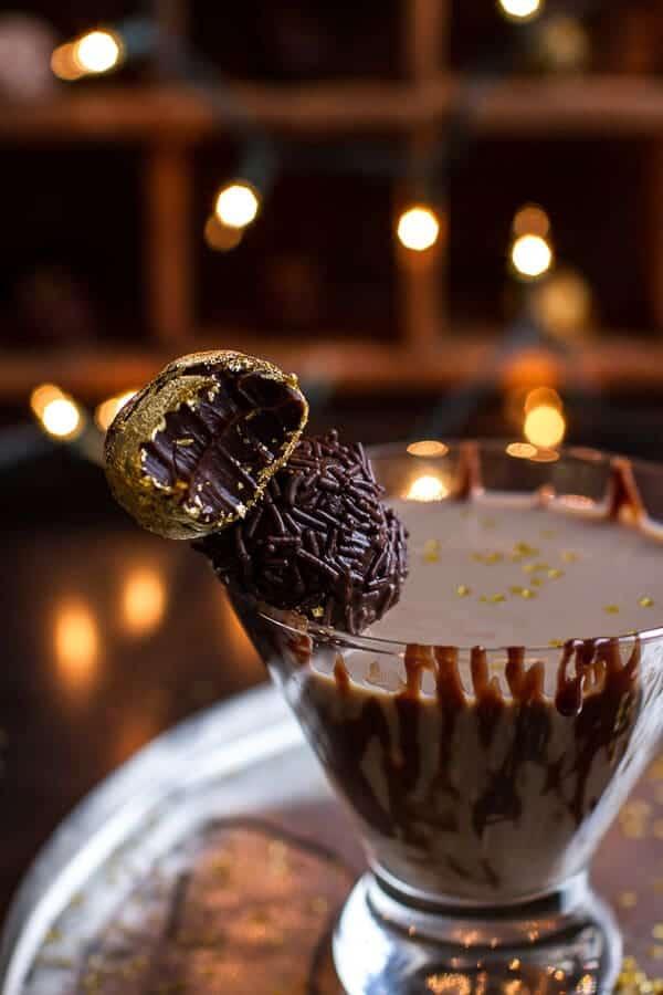 Chocolate Truffle Martini with Dulce de Leche Rum Butter Truffles | halfbakedharvest.com @hbharvest