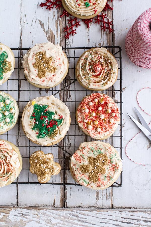 Slice 'n' Bake Vanilla Bean Christmas Sugar Cookies | HBH