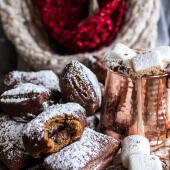 Gingerbread Surprise Beignets with Spiced Mocha Hot Chocolate-1