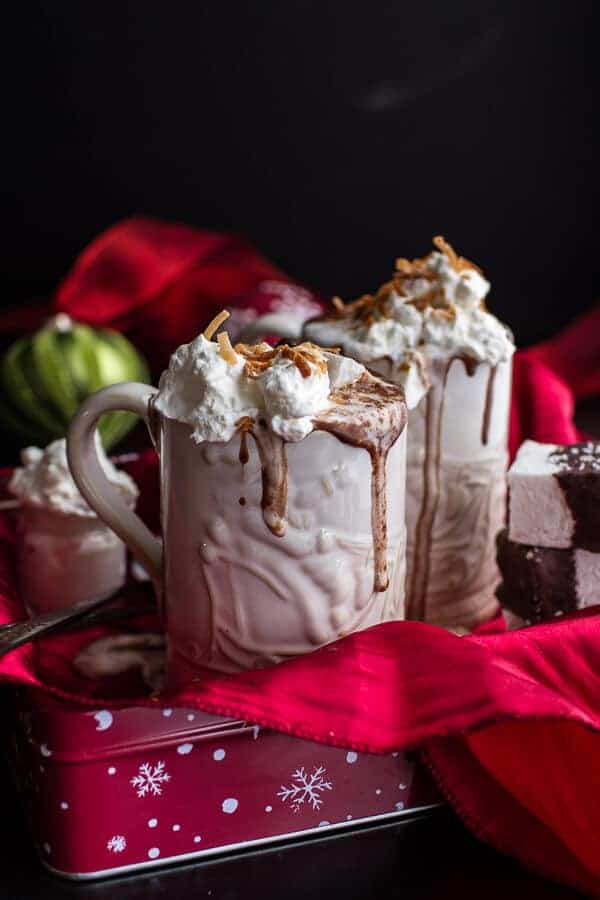 Naughty Nice Hot Cocoa with Spiked Eggnog Marshmallows | halfbakedharvest.com @hbharvest