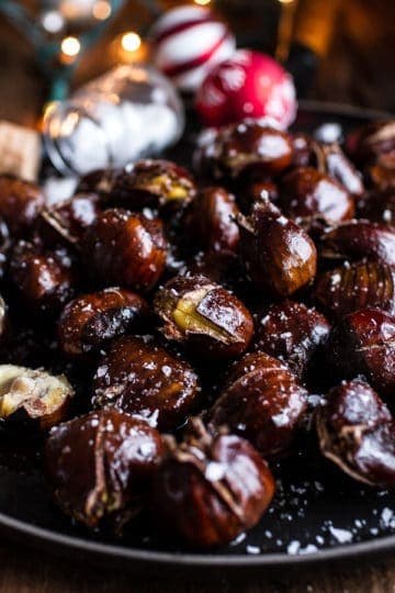 Salted Coffee Butter Roasted Chestnuts.