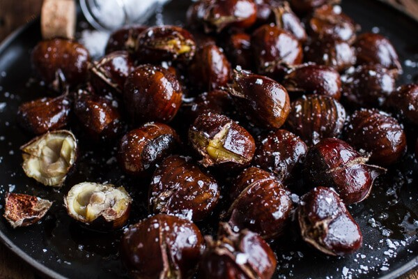 Salted Coffee Butter Roasted Chestnuts | halfbakedharvest.com @hbharvest