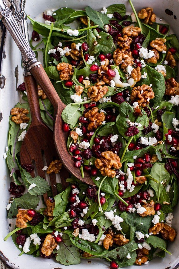 Winter Salad with Maple Candied Walnuts + Balsamic Fig Dressing (+ a ...