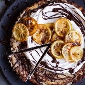 Chocolate Fudge Swirled Lemon Ricotta Tart-1