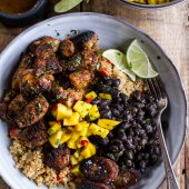 Cuban Chicken and Black Bean Quinoa Bowls with Fried Bananas-1