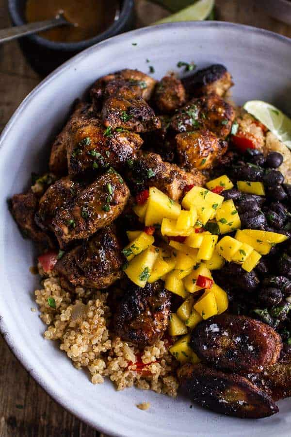 Cuban Chicken + Black Bean Quinoa Bowls...part of the world's best quinoa bowl recipe round up!