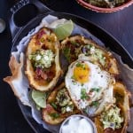 Fully Loaded Potato Skins with Chipotle Southwest Guacamole.