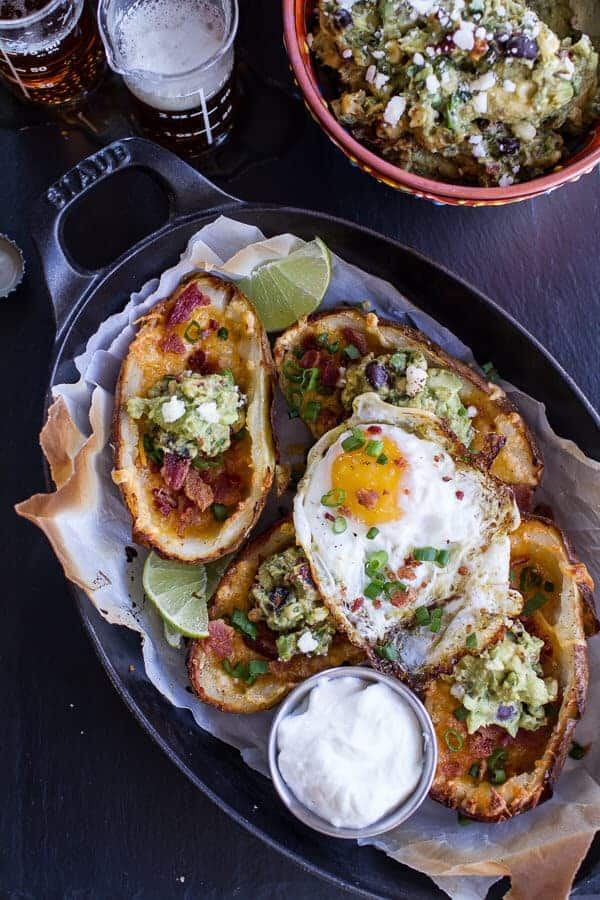 Fully Loaded Potato Skins with Chipotle Southwest | halfbakedharvest.com @hbharvest