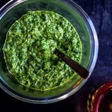 Spicy Green Harissa.