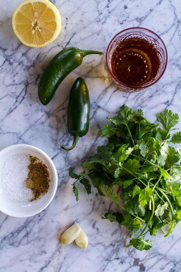 Spicy Green Harissa | halfbakedharvest.com @hbharvest