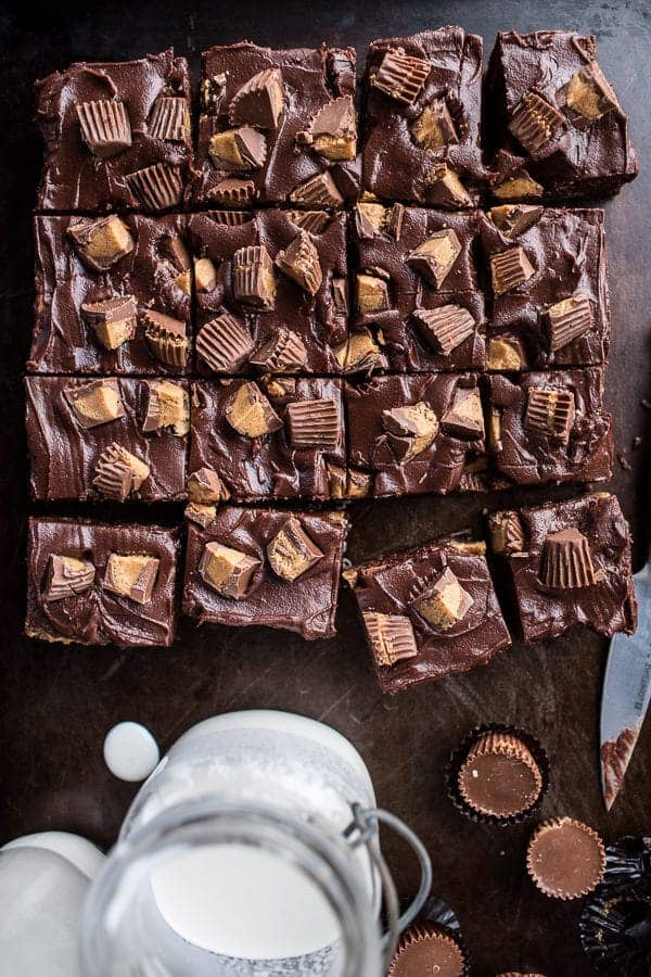 The Very Best Peanut Butter Cup Fudge Brownies | halfbakedharvest.com @hbharvest