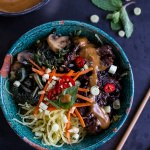 Vietnamese Lemongrass Beef and Spaghetti Squash Noodle Bowls with Peanut Sauce-1