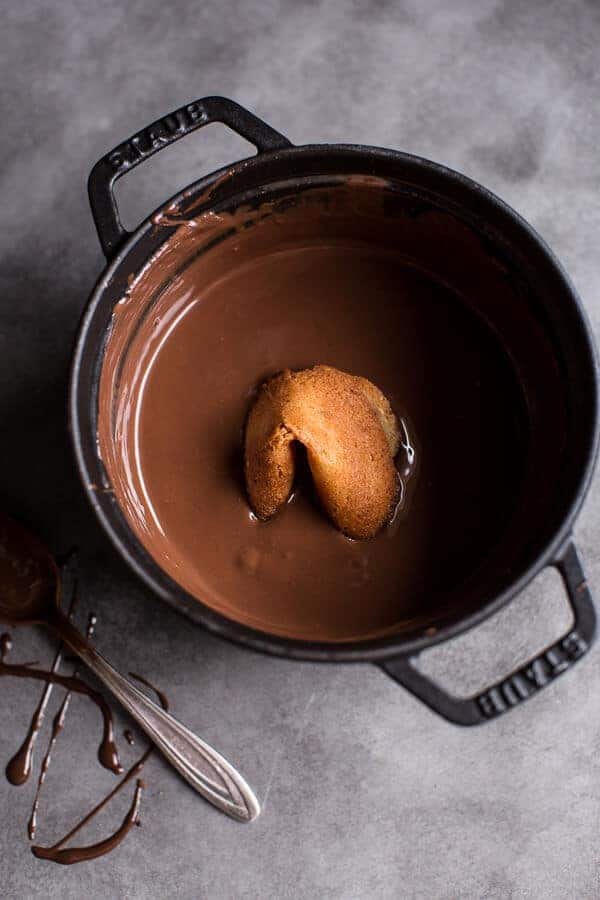 Chocolate Covered Toasted Sesame Fortune Cookies | halfbakedharvest.com @hbharvest