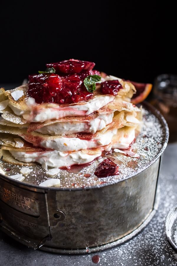 Coconut Honey Crepes with Whipped Mascarpone + Blood ...