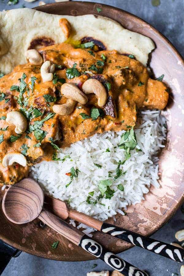 Creamy Cashew Indian Butter Paneer...with Fried Paneer | halfbakedharvest.com @hbharvest