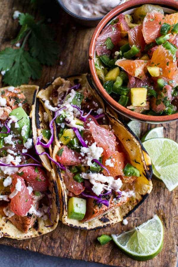 Cuban Fish Tacos with Citrus Mango Slaw + Chipotle Lime Crema | halfbakedharvest.com @hbharvest