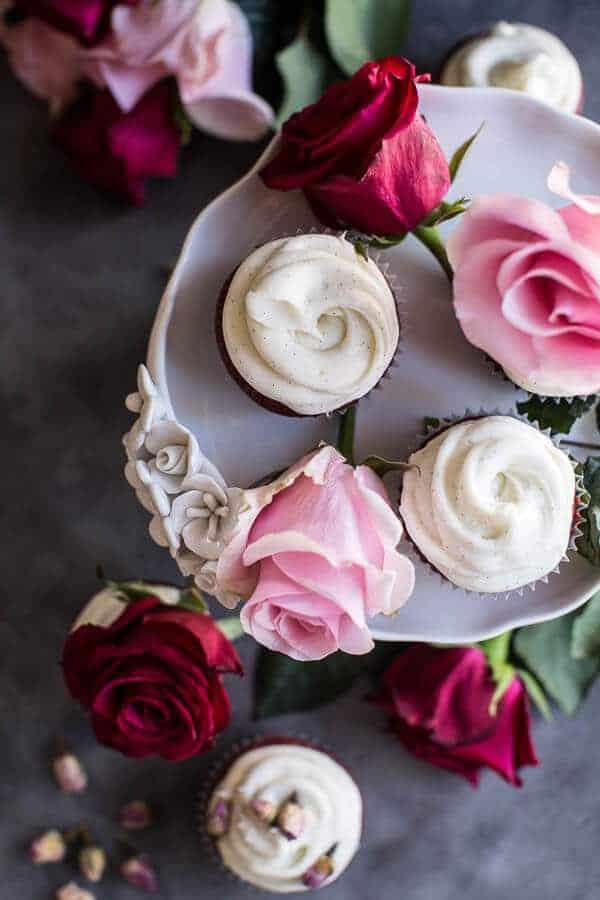 Deep Dark and Rosy, Red Velvet Cupcakes | halfbakedharvest.com @hbharvest